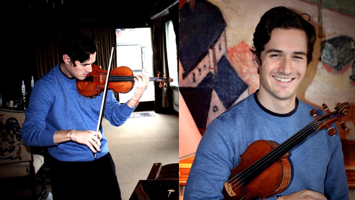 Charlie Siem vil  heller spille fiolin enn å ta en fet jobb i pappas firma (Foto: Steffen Fjærvik, NRK)