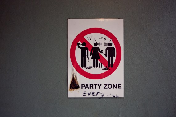 No party zone? (Foto: Tom Øverlie, NRK)