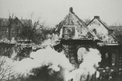 Eisenach-synagogen i brann, november 1938