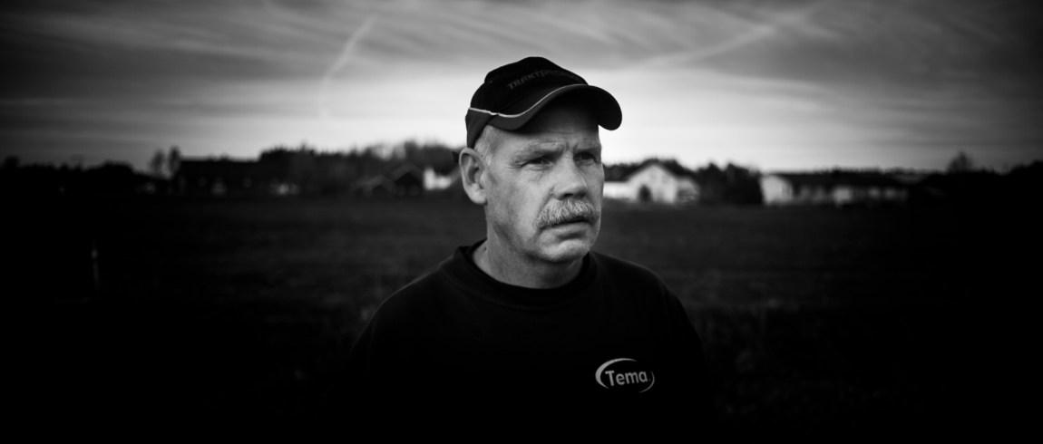 Traktorcrossleder Terje Weldingh i Kirkenær. Foto: Anton Ligaarden, NRK)
