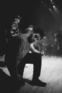 Floorknights Crew på «5 elementer» på Rommen scene, 28. februar 2014 – et rap/battle-arrangement i regi av Jonathan Castro og Hiphop101. (Foto: Piril Maria Kurekci)