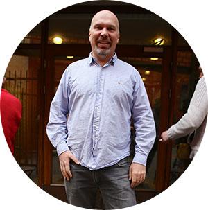 Jostein Hågland, leder på Blå Kors. (Foto: Simen Ø.)