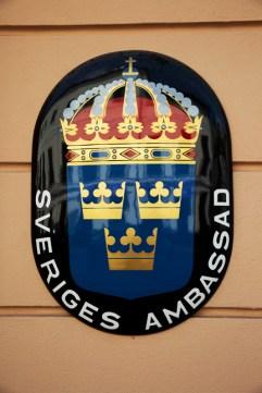 Sveriges ambassade i Hviterussland - «Teddybjørnambassaden». (Foto: Sverre Lilleeng, NRK)