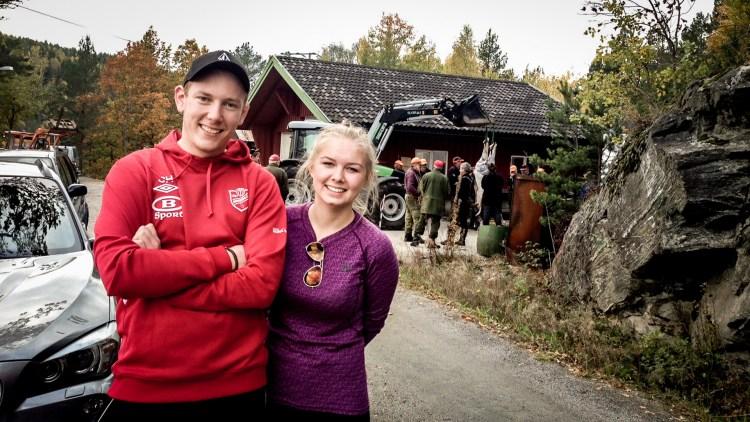 Jonas og Jeanette fra Drangedal (Foto: Webjørn Espeland)