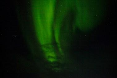 Underveis var det flere ganger nordlys på himmelen.