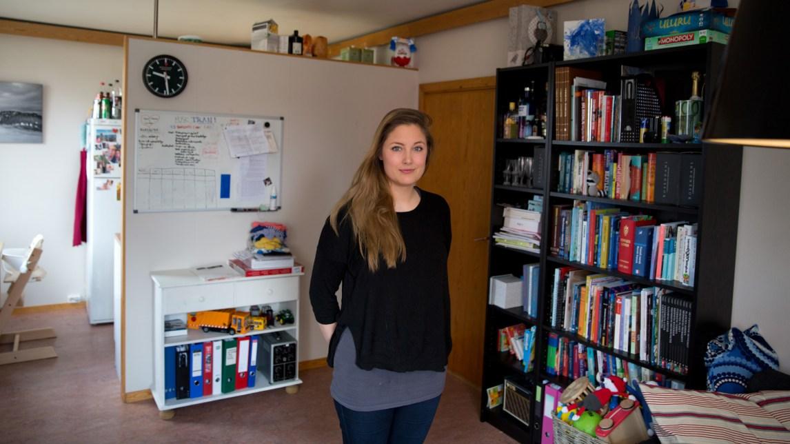 Marin Prestmo (25) er arrangementsansvarlig i Mensa Trondheim og er blant dem som er aktive i foreningen for tiden. (Foto: Anne Dorte Lunås, NRK)