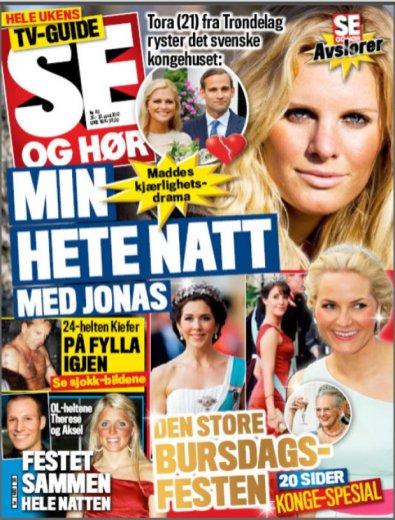 Faksimile av Se og Hør i 2010, hvor norske Tora ble intervjuet.
