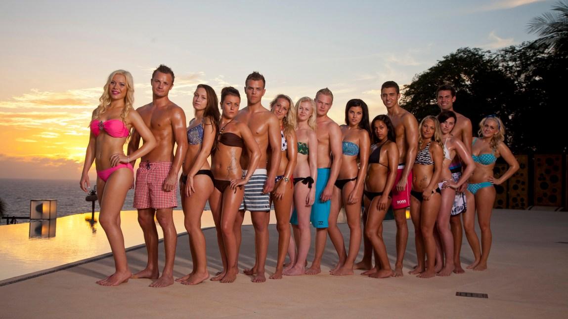 Noen av deltakerne som sjekket inn på Paradise Hotel 2013. (Foto: Viasat/TV3)