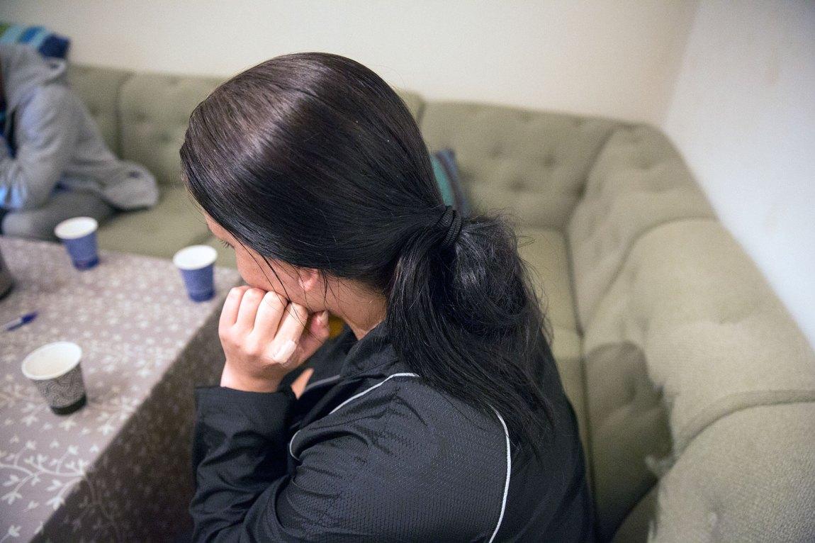 """""""Astrid"""" har vært rusmisbruker i over 17 år. Nå har hun ikke lyst til å ruse seg lenger. Foto: Ludvig Løkholm Lewin, NRK P3"""