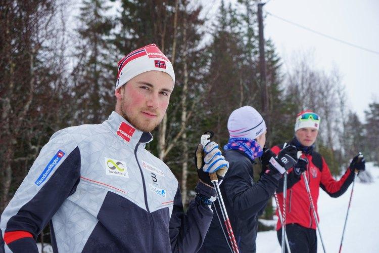 Even Northug (21) er en av Magnis medelever på Meråker. Han er lillebroren til Petter og Tomas Northug, som også har gått på skilinja. Foto: Mona Sprenger