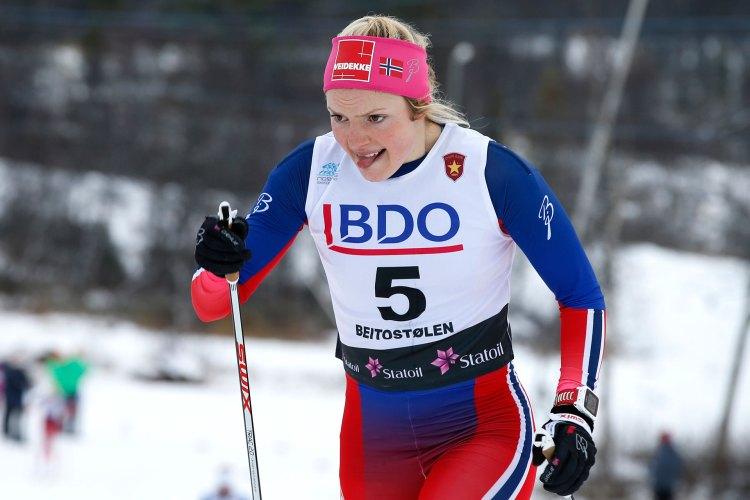 Ski er noe av det aller viktigste i livet til Magni, og hun er et kjent idretssnavn i hjembygda. Dette bildet ble tatt under sesongåpningen på Beitostølen i 2015, hvor Magni endte opp på 43. plass. Foto: Terje Pedersen, NTB Scanpix