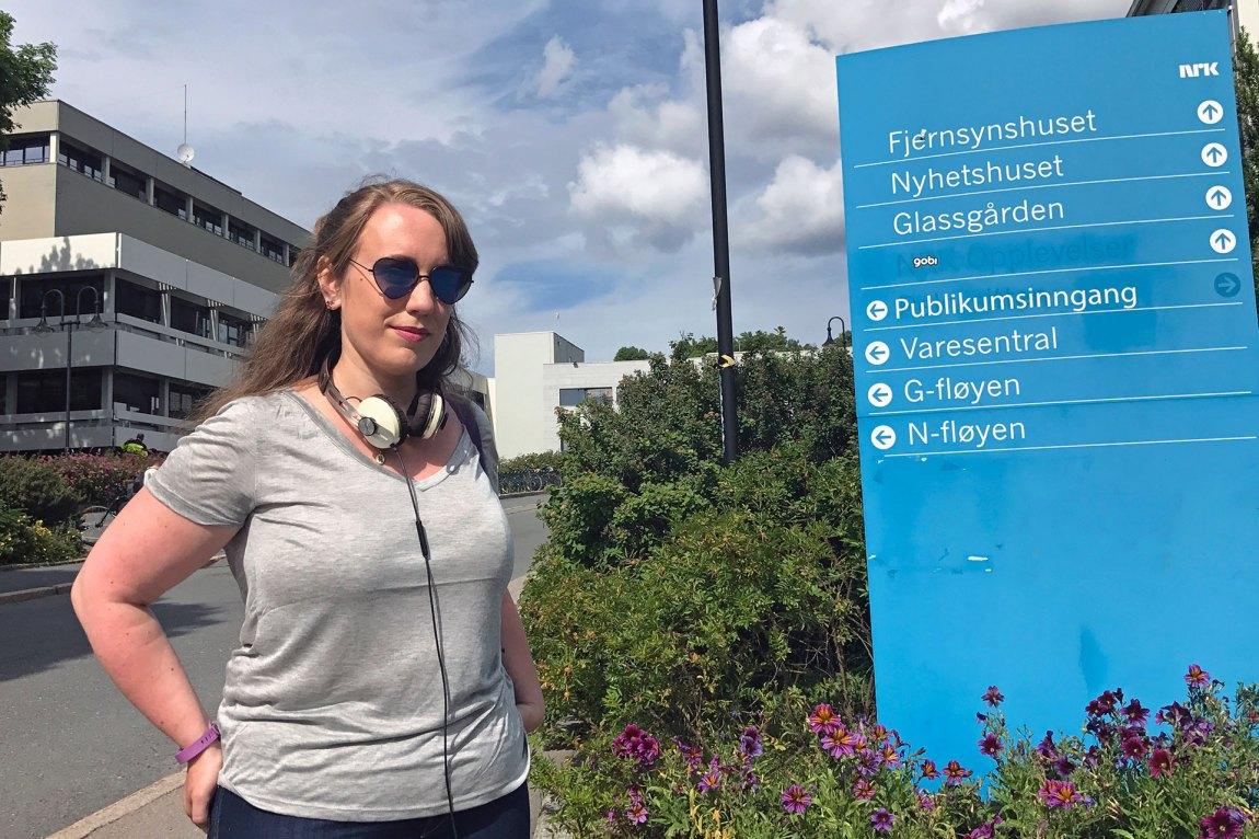 Maren-Anne har flytta til Oslo for å prøve lykken i NRK. Foto: Kim Erlandsen, NRK P3