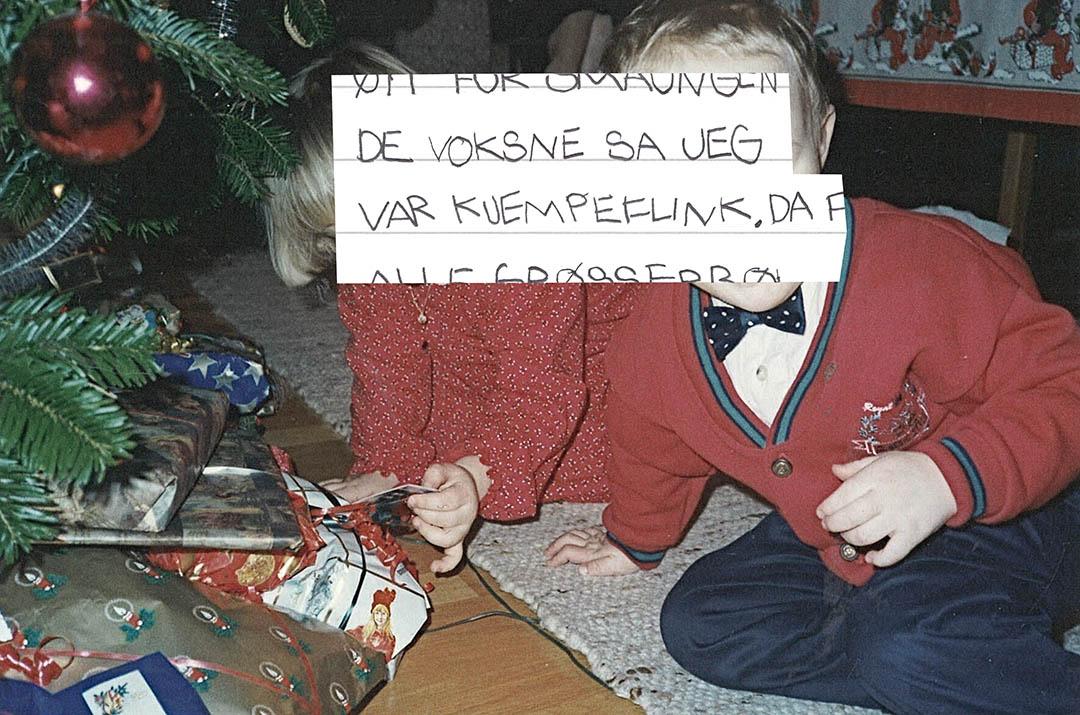 Bilde fra fotoalbum med teksten: De voksne sa jeg var kjempeflink.