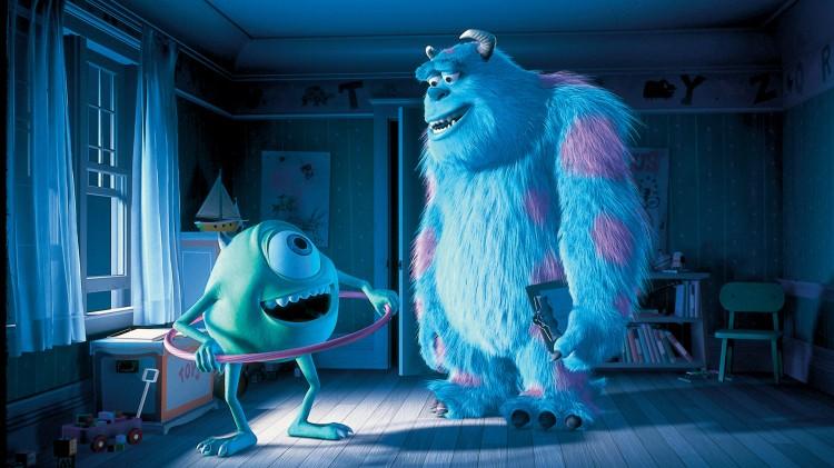 Mike og Sully i Monsterbedriften (The Walt Disney Company Nordic).