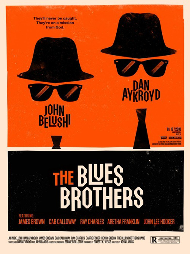 The Blues Brothers (Ill: Olly Moss)
