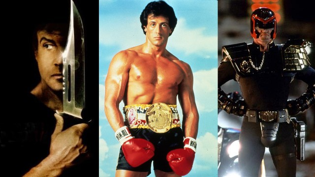 Stallone har beholdt leketøyene fra Rambo, Rocky, og Judge Dredd. (Foto: Hollywood Pictures/United Artists/Lionsgate)