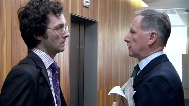 Chris Addison og James Smith i The Thick Of It. (Foto: Scanbox Entertainment Norway)
