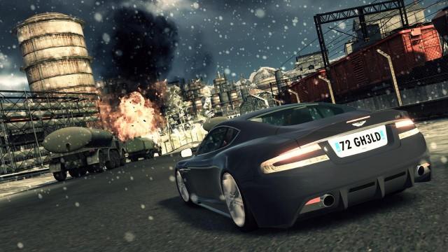 Dårlig snø, men lekker bil i Blood Stone 007. (Foto: Activision)