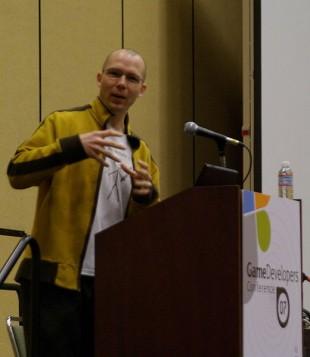 Jonathan Blow har utviklet Braid - her under GDC07. (Foto: Jonathan Blow - CCASA 2.0 Generic)