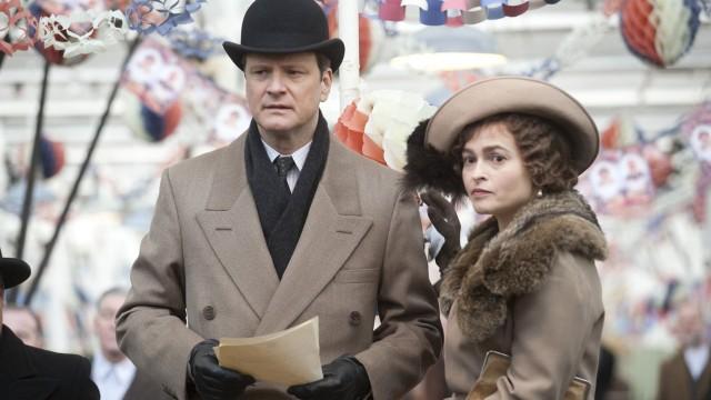 Colin Firth og Helena Bonham Carter i Kongens tale. (Foto: SF Norge)