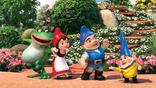 Frosk og nisser i Gnomeo og Julie. (Foto: Walt Disney Studios Motion Pictures Norway)