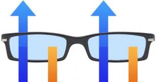 2D-brille (Illustrasjon: Martin Aas, NRK P3)