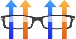 Vanlig brille (Illustrasjon: Martin Aas, NRK P3)