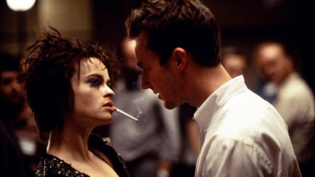 Helena Bonham Carter og Edvard Norton i Fight Club. (Foto: Fox 2000 Pictures)