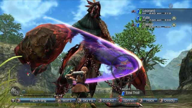 Hovedpersonene Leonard i kamp mot et av spillets mange giganter. (Foto: Sony)