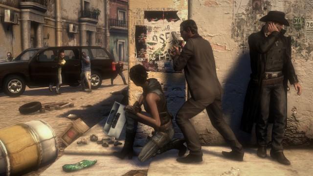 Trioen poserer for enda et 'kult' skjermbilde. (Foto: Ubisoft).