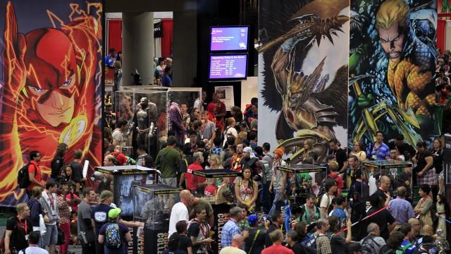 Slik så det ut i Comic Con under messas første dag i San Diego. (Foto: REUTERS/Mike Blake)