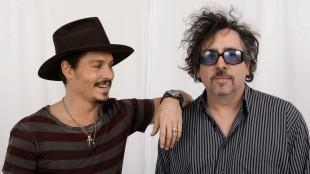 Johnny Depp og Tim Burton (AP Photo/Kevork Djansezian)