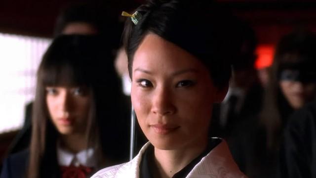 Lucy Liu som den hensynsløse Yakuza-sjefen O-ren Ishii. (Foto: Nordisk Distribusjon)