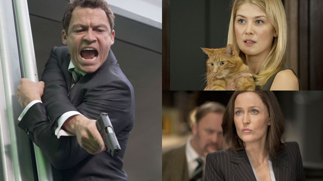 Dominic West, Rosamund Pike og Gillian Anderson er med i Johnny English Reborn (Foto: United International Pictures).