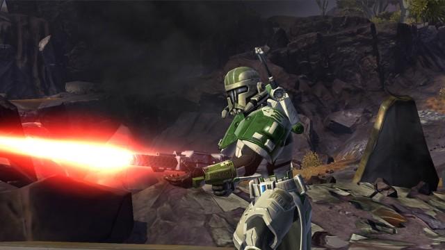 Jeg koste meg aller mest med skytevåpen i SW:TOR. Bilde av en Trooper med Vanguard-spesialisering. (Foto:EA)