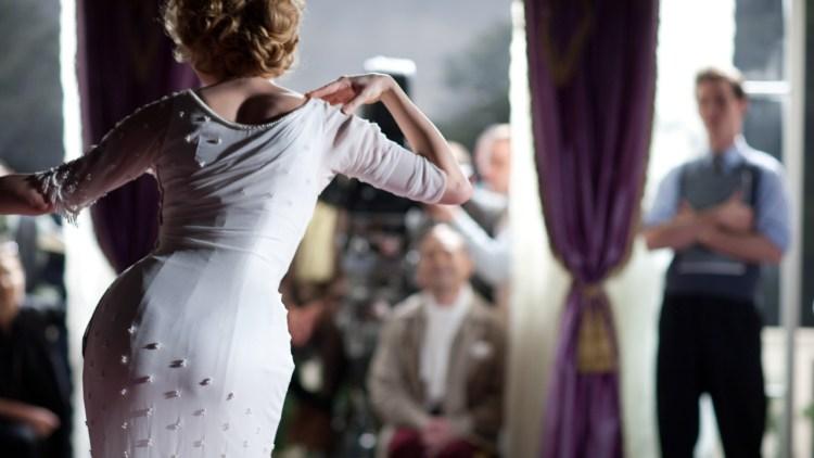 På filmsettet til Prinsessen og korpiken i My Week With Marilyn (Foto: Scanbox Entertainment AS).