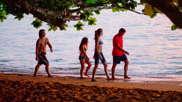 Familiedrama på idylliske Hawaii i The Descendants (Foto: 20th Century Fox).
