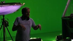André Øvredal under innspillingen av kortfilmen Tunellen (Foto: Remi Myhr Horgar/NRK).