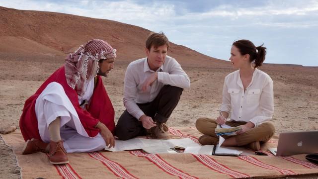 Amr Waked, Ewan McGregor og Emily Blunt i Laksefiske i Jemen (Foto: SF Norge AS).