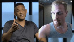 Will Smith hadde en videohilsen til Kristoffer Hivju i kvelden utgave av Lindmo. (Foto: NRK)