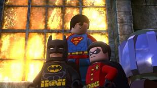 Batman, Supermann og Robin poserer i Lego Batman 2: DC Super Heroes (Foto: Warner Bros. Entertainment).