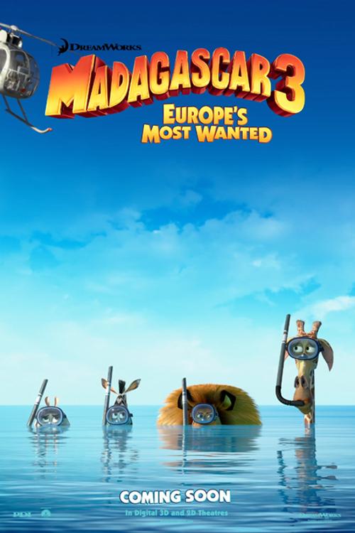 Madagascar 3: Full rulle i Europa