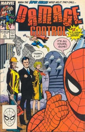 Forside fra det første «Damage Control»-bladet (Bilete: Marvel).