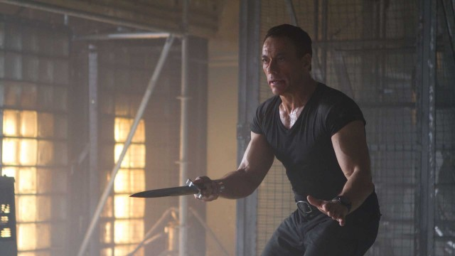 Jean Claude Van-Damme som skurken Vilain (!) i The Expendables 2 (Foto: Norsk Filmdistribusjon AS).