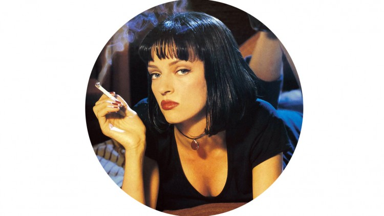 Uma Thurman i et promobilde til «Pulp Fiction». (Foto: Miramax)