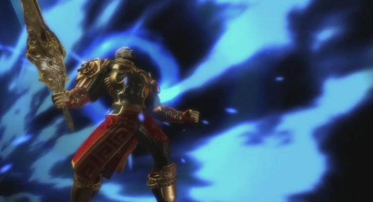 Kratos midt i sitt heftigaste superangrep. (Foto: SCEE)