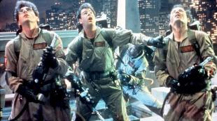 «Who you gonna call? Ghostbusters!» Slik så gjengen ut i originalen fra 1984. (Foto: NTB Arkiv)