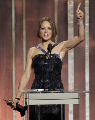 Jodie Foster tok imot pris for si fantastiske karriere. (Foto: AP Photo/NBC, Paul Drinkwater)