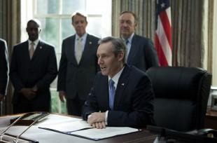 Det er ikkje nødvendigvis presidenten som har mest makt. (Foto: Netflix)