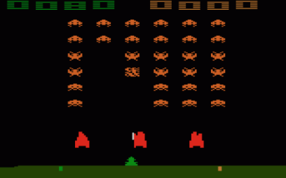 Skjermbilde fra «Space Invaders». (Foto: Atari)